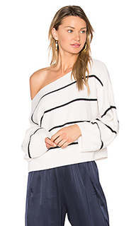 Stripe cold shoulder sweater - Vince