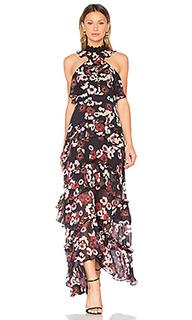 Цветочное вечернее платье bordeaux - NICHOLAS