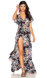 Платье с запахом и оборкой beach house - AUGUSTE