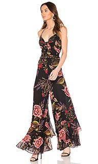 Peony floral spiral jumpsuit - NICHOLAS