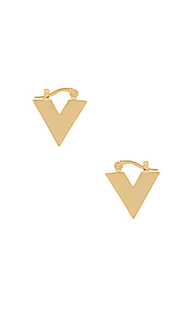 V huggie earrings - Michelle Campbell