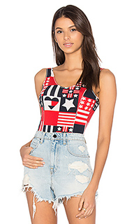 Track & field printed bodysuit - Hilfiger Collection