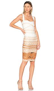 Leticia zig zag fitted midi dress - LOLITTA