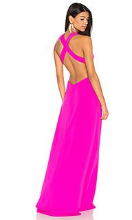 Вечернее платье с перекрестными шлейками на спине - JILL JILL STUART