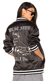 Куртка-бомбер с вышивкой cali - KENDALL + KYLIE