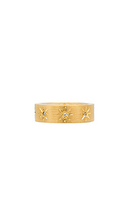 Cz burst smooth flat ring - Jacquie Aiche