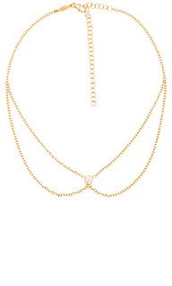 1 cz selena necklace - Jacquie Aiche