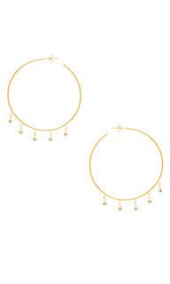 Cz shaker hoop earrings - Jacquie Aiche