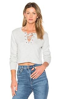 Lace up crop sweater - AVEC LES FILLES