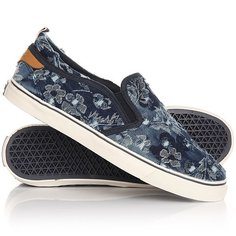 Слипоны женские Wrangler Icon Slip On Canvas Denim Flowers