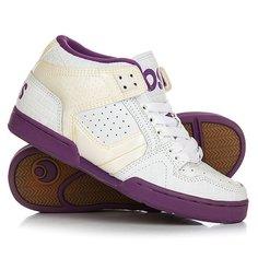 Кеды кроссовки высокие женские Osiris South Bronx White/Purple
