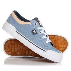 Кеды кроссовки низкие женские DC Danni Tx Se Blue/White/Orange