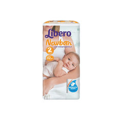 Подгузники Libero Newborn, Mini 3-6 кг (2), 52 шт.