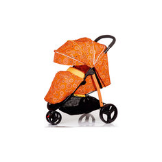 Прогулочнаяколяска TRINITY, Babyhit, оранжевая с полосками