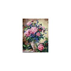 """Живопись на холсте """"Букет лесных цветов"""", 40*50 см Белоснежка"""