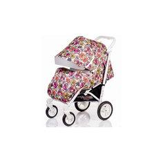 Прогулочная коляска DRIVE-FLOWERS, Babyhit, цветы, белая рама