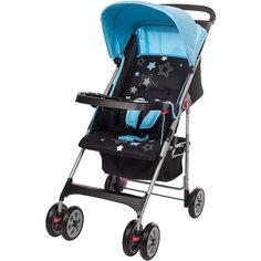 Прогулочная коляска C5100, Geoby, синяя с черным