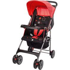 Прогулочная коляска C5100, Geoby, красная с черным