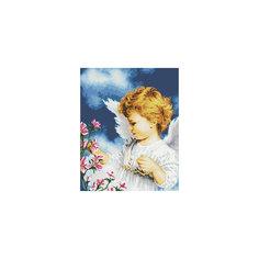 """Мозаика на подрамнике """"Малютка Ангел"""" Белоснежка"""