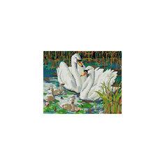 """Мозаика на подрамнике """"Семья лебедей"""" Белоснежка"""