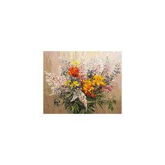 """Живопись на холсте """"Букет с желтыми лилиями"""", 40*50 см Белоснежка"""