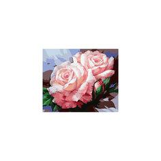 """Живопись на холсте """"Нежные розы"""", 40*50 см Белоснежка"""