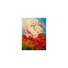 """Живопись на холсте """"Цветочная мозаика"""", 30*40 см Белоснежка"""