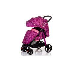 Прогулочная коляска RACY, Babyhit, фиолетовая с кругами