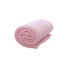 Плед хб вязаный, 70х90, Wallaboo, нежно-розовый