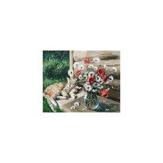 """Живопись на холсте """"Дачная жизнь кота Василия"""", 40*50 см Белоснежка"""