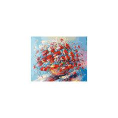 """Живопись на холсте """"Цветочная палитра лета"""", 40*50 см Белоснежка"""