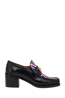 Кожаные туфли Union Jack Horsebit Gucci