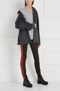 Кожаные брюки с лампасами Haider Ackermann