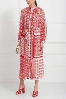 Шелковое платье Fendi