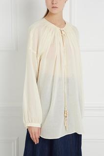 Блузка из хлопка и льна Veronique Branquinho
