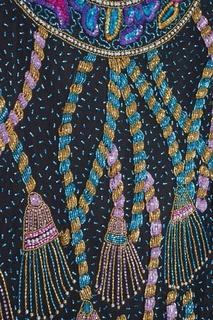 Платье со стеклярусом (1980-е) Sweelo Vintage