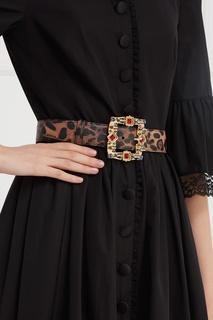 Кожаный ремень с кристаллами Dolce & Gabbana