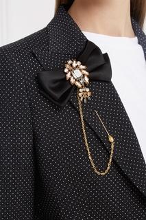 Брошь с кристаллами Dolce & Gabbana