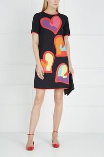 Платье с принтом Boutique Moschino