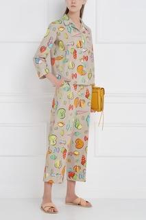 Хлопковые брюки Boutique Moschino
