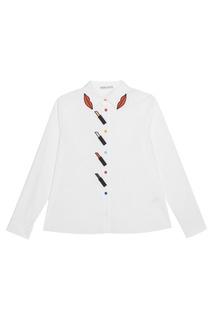 Хлопковая блузка Alice + Olivia