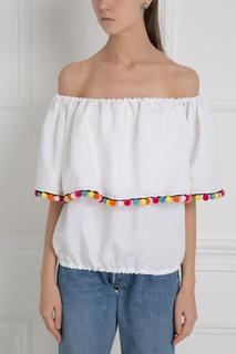 Льняная блузка Carmen Pon Pon Forte Couture
