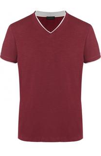 Хлопковая футболка с V-образным вырезом Baldessarini