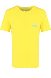 Хлопковая футболка с круглым вырезом Moschino