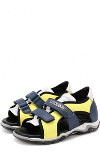 Комбинированные сандалии с застежками велькро Dsquared2
