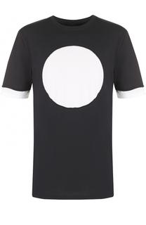 Хлопковая футболка с контрастной отделкой 3.1 Phillip Lim