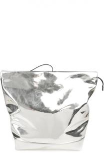 Металлизированная сумка на замке Bundle Marni