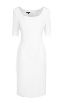 Приталенное платье-миди с фактурной отделкой Escada