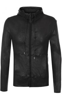 Кожаная куртка на молнии с капюшоном Giorgio Brato