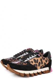 Комбинированные кроссовки Capri с принтом Dolce & Gabbana